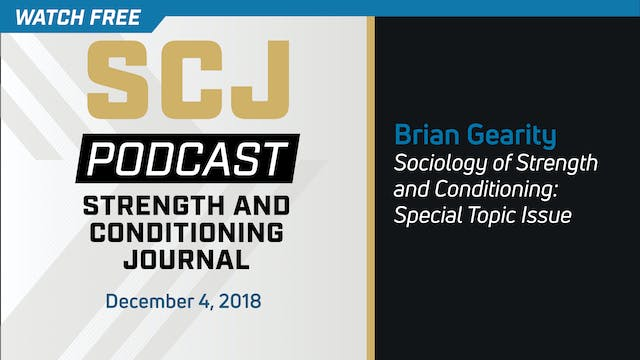 Sociology of S&C - Brian Gearity