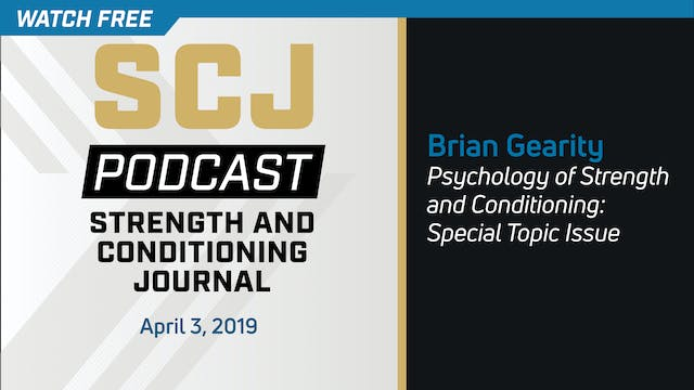 Psychology of S&C - Brian Gearity