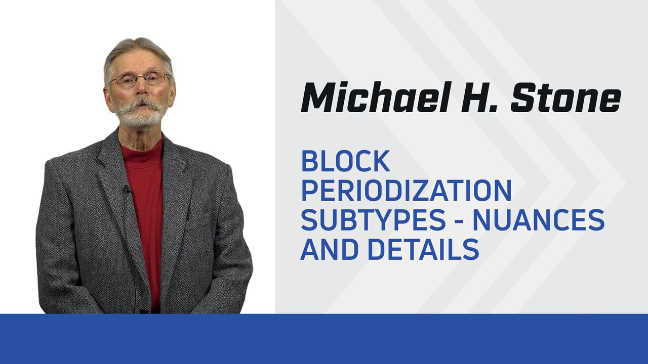 Block Periodization Subtypes - Nuances and Details