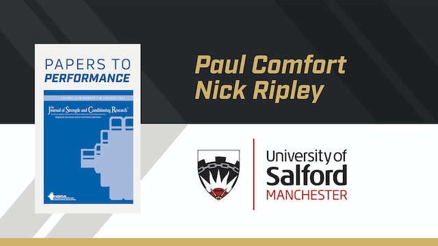 Papers to Performance with Dr. Paul Comfort & Nick Ripley