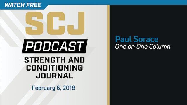 One on One Column - Paul Sorace