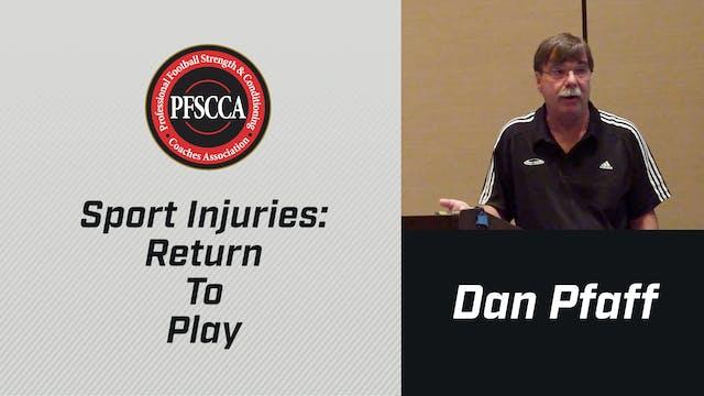 PFSCCA: Sports Injuries: Return To Play