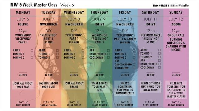 Week 6 Calendar