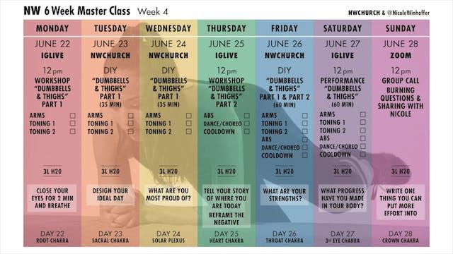 0 NW MasterClass Week 4 Schedule