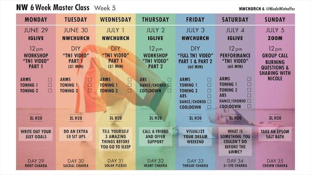 Week 5 Calendar