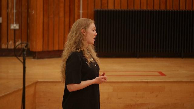 The Mark Padmore Masterclasses: Bethany Horak-Hallett (Mezzo Soprano)