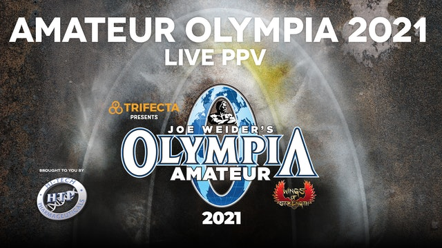 Amateur Olympia 2021 PPV Package