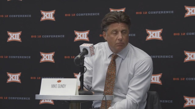 Mike Gundy Breakout Press conference at Big 12 Media Days.