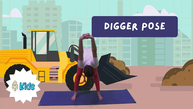 How To Practice Digger Pose | An OM Warrior Kids Yoga Pose Tutorial