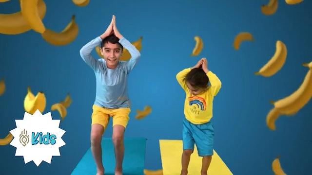 Banana Yoga | An OM Warrior Kids Preschool Yoga Video