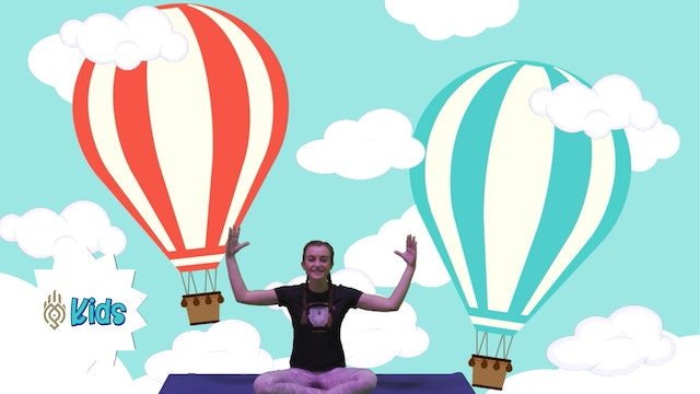 Hot Air Balloon Breathes | An OM Warrior Kids Mindful Breathing Exercise