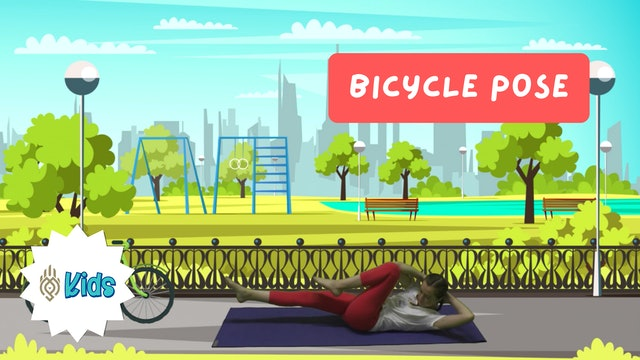 How To Practice Bicycle Pose | An OM Warrior Kids Yoga Pose Tutorial