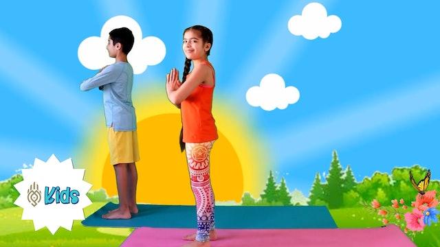 Week 1 of Surya Namaskar | An OM Warrior Kids Surya Namaskar Video