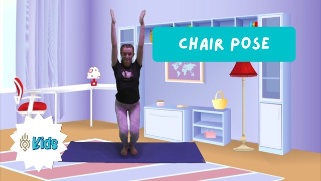 How To Practice Chair Yoga Pose | An OM Warrior Kids Yoga Pose Tutorial