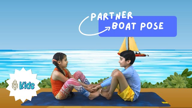 How To Practice Partner Boat Pose | A...