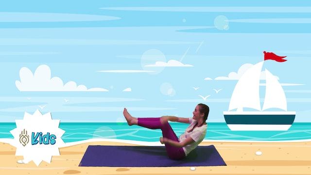 Having Fun At The Beach   An OM Warrior Kids Yoga Adventure