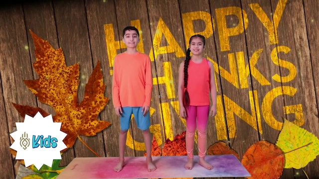 Happy Thanksgiving | An OM Warrior Kids Holiday Yoga Video