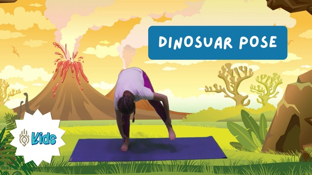 How To Practice Dinosaur Pose | An OM Warrior Kids Yoga Pose Tutorial