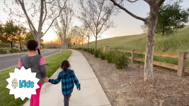 Mindful Walking Meditation | An OM Warrior Kids Mindfulness Adventure