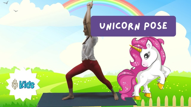 How To Practice Unicorn Pose | An OM Warrior Kids Yoga Pose Tutorial