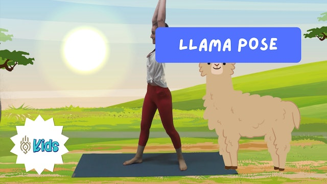 How To Practice Llama Pose | An OM Warrior Kids Yoga Pose Tutorial