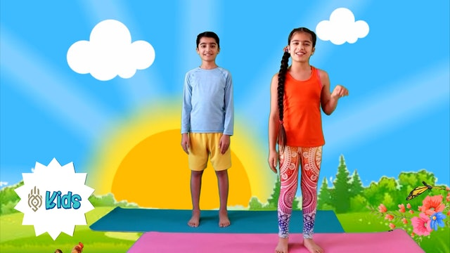Week 2 of Surya Namaskar | An OM Warrior Kids Surya Namaskar Video