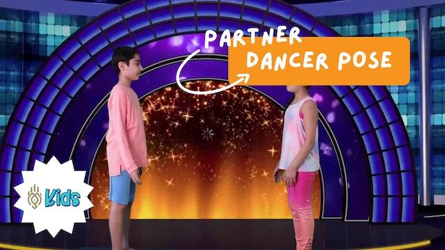 How To Practice Partner Dancer Pose | An OM Warrior Kids Yoga Pose Tutorial