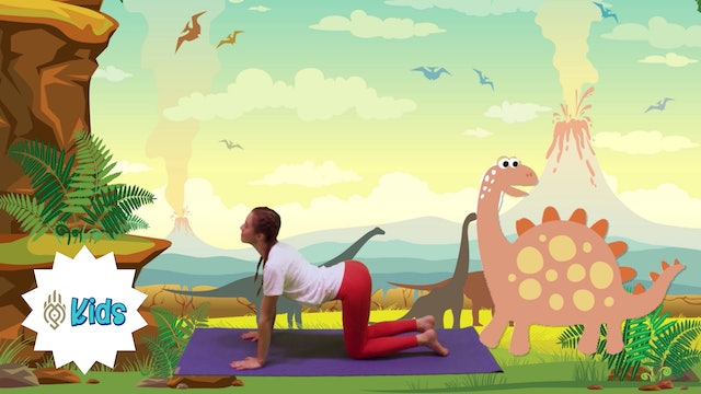 Travel Back In Time To Meet Dinosaurs | An OM Warrior Kids Yoga Adventure