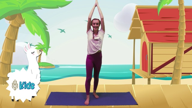 Let's Go To The Luau Party | An OM Warrior Kids Yoga Adventure
