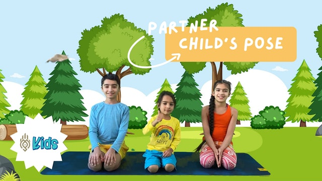 How To Practice Partner Child's Pose | An OM Warrior Kids Yoga Pose Tutorial