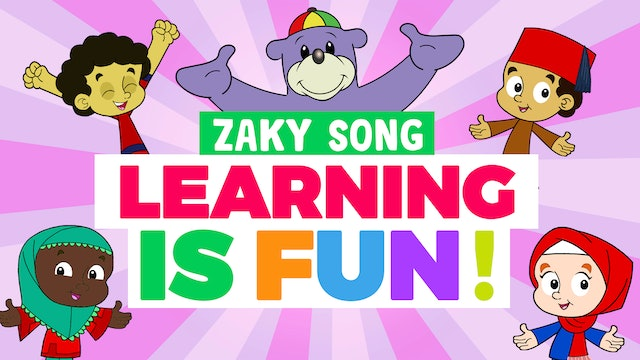 🤩 Learning is FUN! - Zaky Song 🎈
