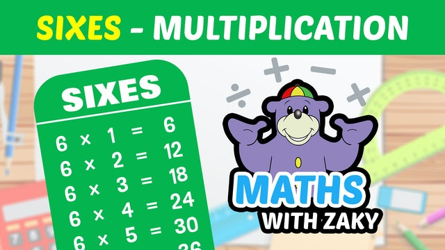 📕 Learn Maths with Zaky - Multiplication (Number 6)