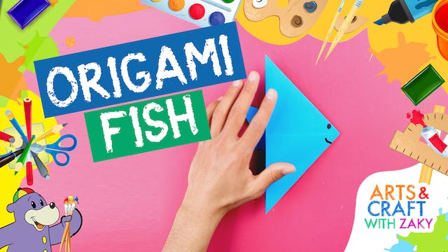 Make an Origami Fish with Zaky