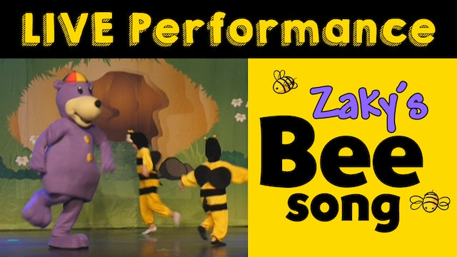 Zaky's Bee Song - LIVE Performance
