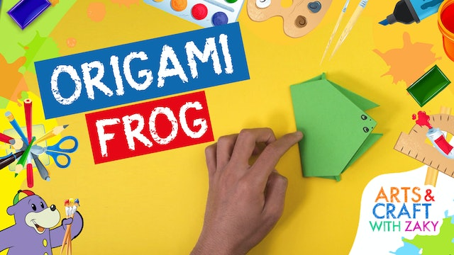Make an Origami Frog with Zaky