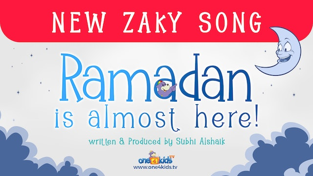 New Zaky Song 😊 - Ramadan Is Almost Here! 🌙