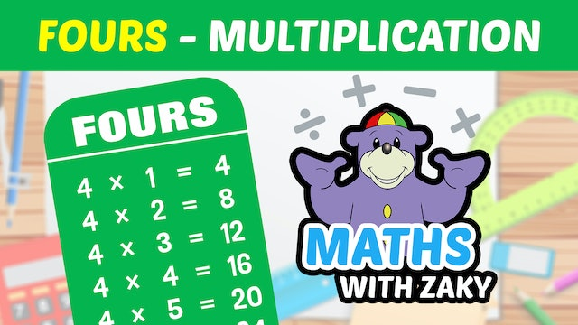📕 Learn Maths with Zaky - Multiplication (Number 4)