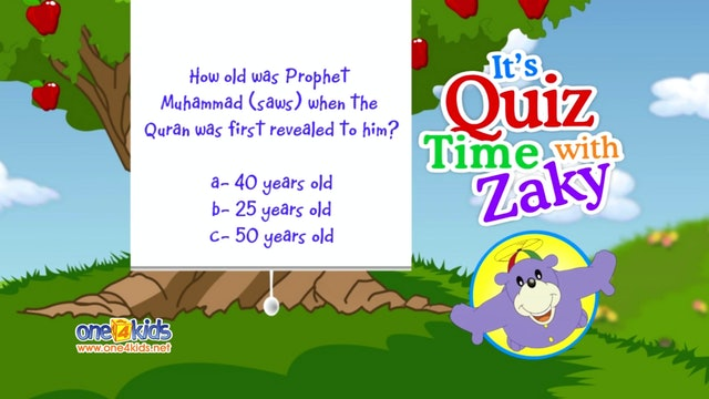 It's Quiztime with Zaky -  Quran Part 2