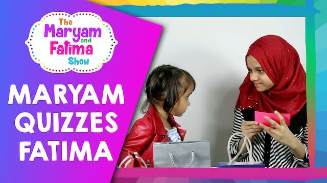 Cute Video of Maryam Quizzing Fatima ...
