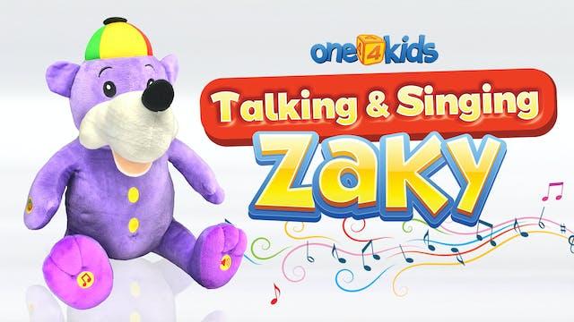 Zaky Talking & Singing Plush Toy