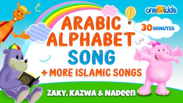 Arabic Alphabet Song + more Islamic Songs | Zaky, Kazwa & Nadeen