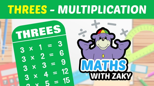📕 Learn Maths with Zaky - Multiplication (Number 3)