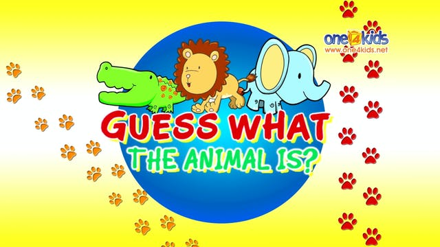 Guess What The Animal Is?
