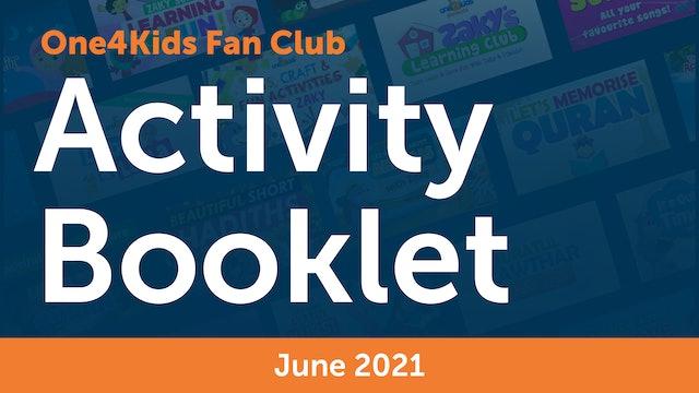 One4Kids Fan Club Activity Booklet - June 2021