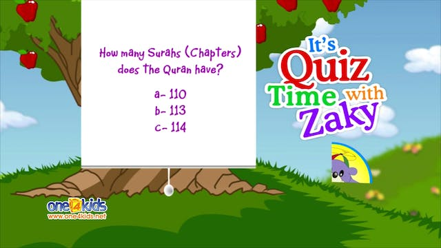It's Quiztime with Zaky -  Quran Part 1