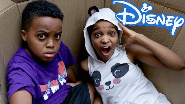 Shiloh and Shasha Mail Themselves to Disney World!