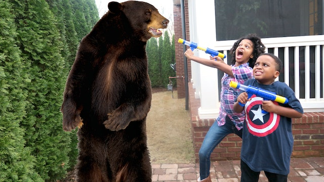 Giant Grizzly Bear Attack!