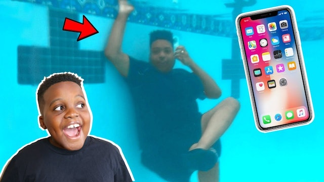 Mirthell's Phone Dropped into the Pool!
