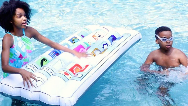 Giant iPhone Dropped Into Pool!