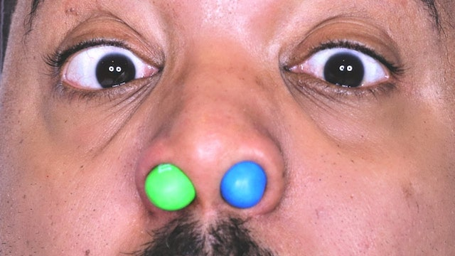 M&M'S STUCK IN NOSE!